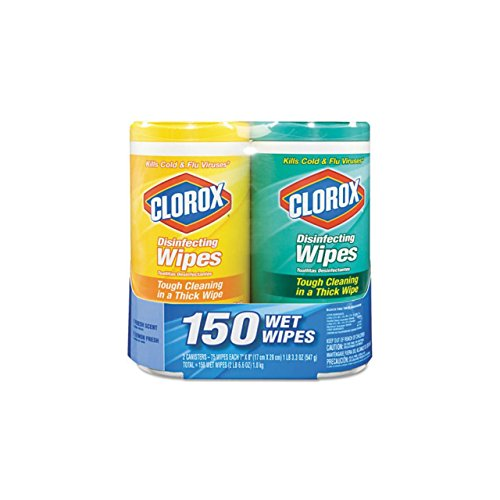 Clorox Company 01599 Disinfectant Wipes-2-Pack, 1 Citrus Blend and 1 Fresh Scent(75ct each)