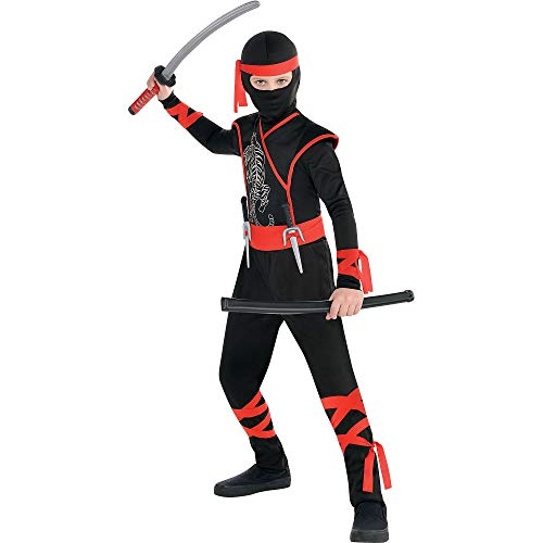 AMSCAN Shadow Ninja Halloween Costume for Boys, Small, with Included Accessories
