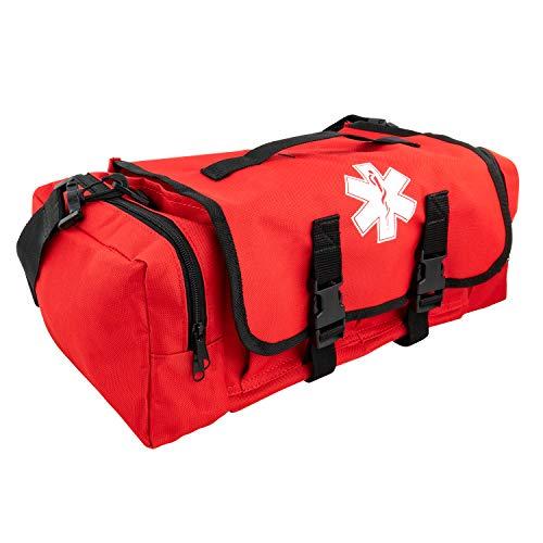 LINE2design First Aid Medical Bag - EMS EMT Paramedic Economical Tactical First Responder Trauma Bag Empty - Portable Outdoor Travel Jump Rescue EMS Bags – Red