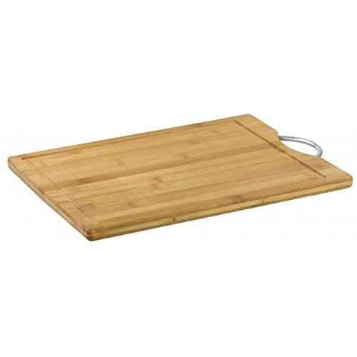 HOME BASICS CB44253 16 inch Bamboo Cutting Board with Handle