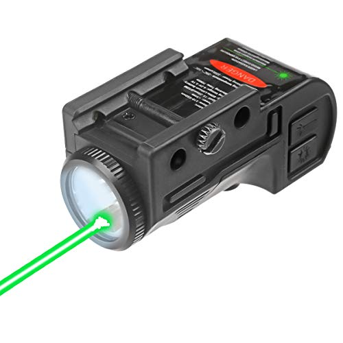 Lasercross CL105 New Magnetic Charging Internal Green Laser Sight & Flashlight Laser Combo with Rechargeable Battery Inside,Used for Most of Handguns and Rifles Built with 20mm Picatinny Rails
