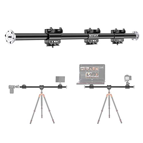 Neewer 40 inches/100cm Horizontal Tripod Arm, Camera Tripod Boom Arm Extension Arm with 3/8-inch Screw for Studio Outdoor Macro Overhead Photography, 5kg Load Capacity (Only Boom Arm Included)