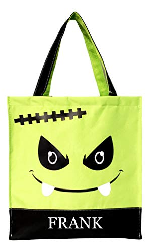Custom Personalized Character Halloween Bag Trick or Treat Tote (Frankenstein Personalized)