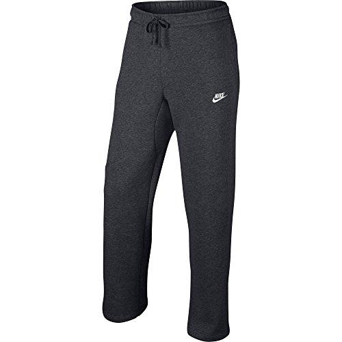 Nike Mens Open Hem Fleece Pocket Sweatpants Dark Grey/White 823513-071 Size Medium