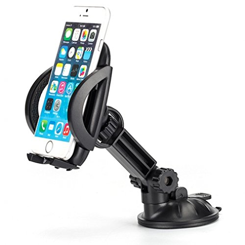High Quality Easy Mount Car Holder Dash and Windshield Dock for Net10, Straight Talk, Tracfone Samsung Galaxy S6, Edge+, S5, S4, Grand Prime, Core Prime, J1 J5 J7, Galaxy Note 5 4 3 2 Edge