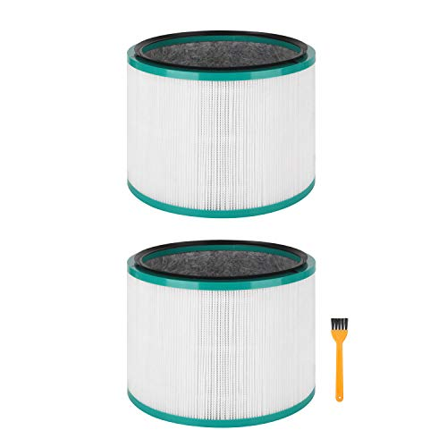Colorfullife 2 Pack Replacement HEPA Filter for Dyson HP01, HP02, DP01, DP02 Desk Purifiers. Compare to Part # 968125-03 for Use with Dyson Pure Cool Link Fans