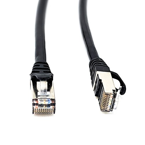 RiteAV RJ50 10p10c SFTP CAT5 Male to Male Cable with Shielded Connectors - Black - 3 Meter
