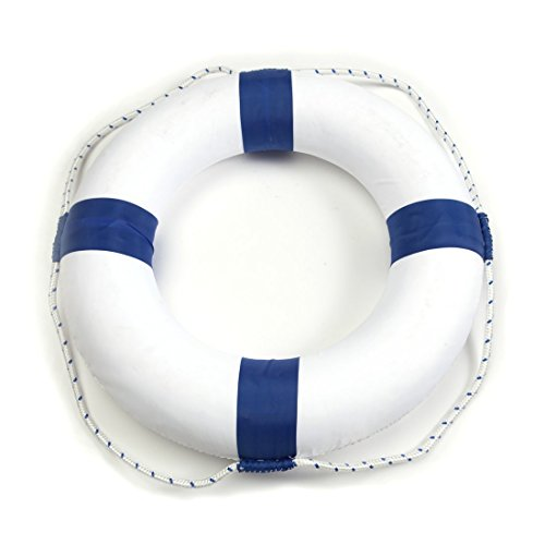 52cm (20in) Diameter Swim Foam Ring Buoy Swimming Pool Safety Life Preserver W/Nylon Cover Kid Child Adult