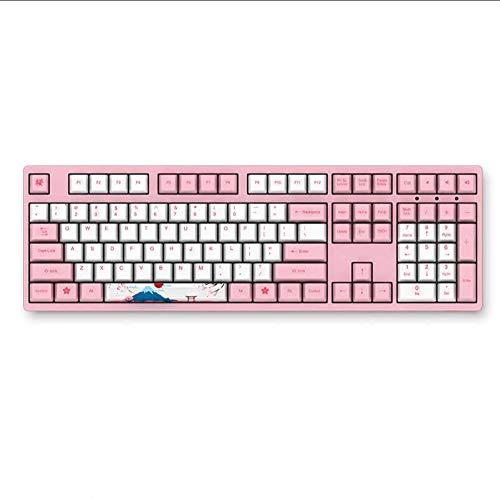 AKKO 3108 V2 108 Key PBT Keycap Akko Pink Switch Type-C Wired Mechanical Gaming Keyboard (Cherry Blue Switch)