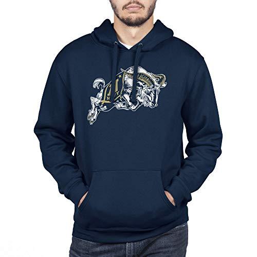 Top of the World Navy Men's Team Icon Teeouchdown Hoodie Sweatshirt, Large