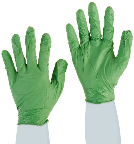 Showa Best 6105PFXL GreeN-DEX Biodegradable Industrial Grade Nitrile Glove, Disposable, Powder Free, 4 mil Thickness, 9-1/2' Length, X-Large, Green (Pack of 100)