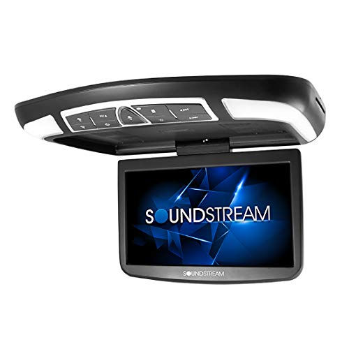 Sounstream 13.8' Car Overhead High-resolution Video Monitor with DVD Player MobileLink Smartphone Mirroring and Remote