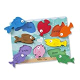 Melissa & Doug Colorful Fish Wooden Chunky Puzzle (8 Pieces), Great Gift for Girls and Boys – Best for 2, 3, and 4 Year Olds, Multicolor (9003)