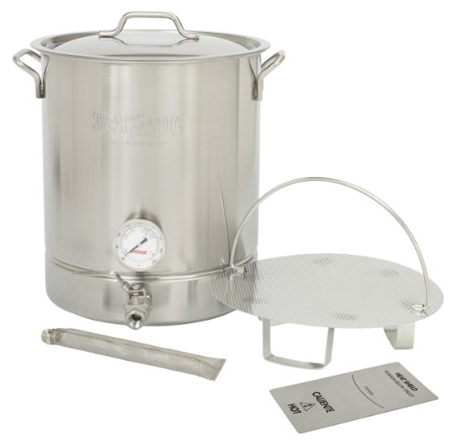 Bayou Classic 800-416 16 Gallon Stainless Steel 6 Piece Brew Kettle