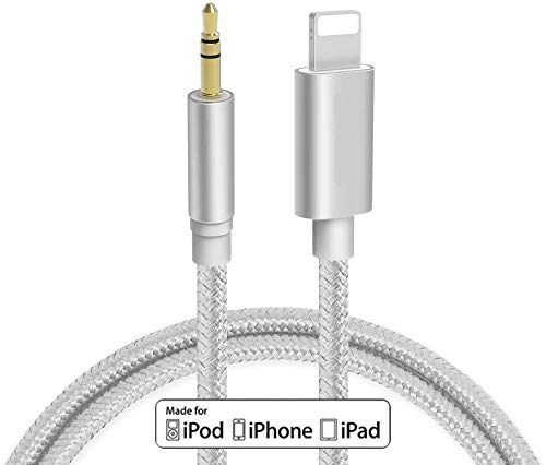 Aux Cable for Car【Nylon Braided】3.3ft 3.5mm Male Aux Cord for Car Compatible with iPhone X/XS/8/8Plus/7/7Plus Jack to 3.5mm Male Audio Adapter for Headphones Jack Cable Aux Cord for Car Stereo