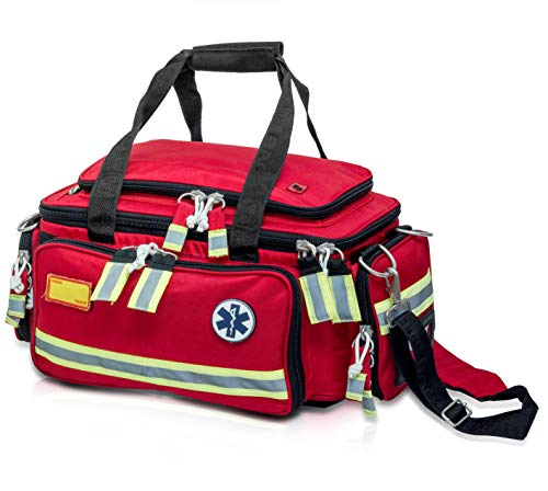 Elite Bags EMS Extreme'S Emergency Bag | Basic Life Support (Red) | First Responder | EMT Bag | First Aid Kit