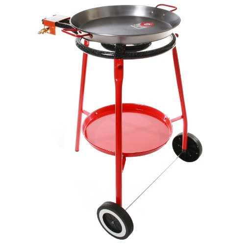 Garcima Cooking Kit on Wheels with 18-inch Carbon Steel Paella Pan