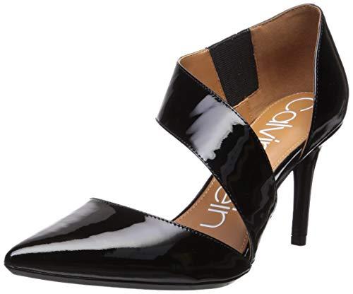 Calvin Klein Women's Gella Dress Pump, Black Patent, 8.5 Medium US