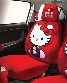 Hello Kitty Car Seat Cover with Headrest Cover