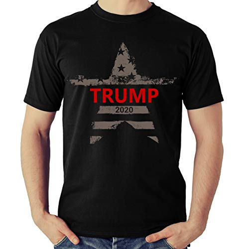 Trump T Shirt - Donald Trump Campaign 2020 Tee Shirt - Keep America Great - Presidential Election Tshirt (Black, Large)