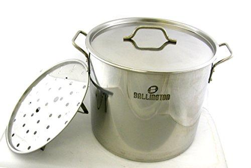 40 QT Quart 10 Gallon Stainless Steel Stock Tamale Steamer Pot Beer Brew Kettle