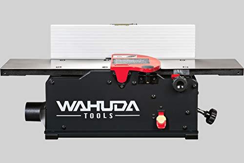 Wahuda Tools 50160CC-WHD (6 inch) Bench Top Spiral Cutterhead Jointer with Cast Iron table & 4 sided Carbide tips installed (Replacing Cutech 40160H/40160HC)