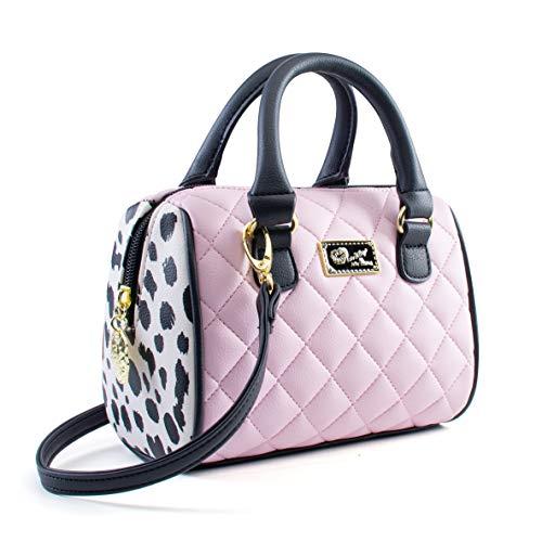 Luv Betsey Johnson Harlee Spot Mini Crossbody Satchel Bag - Pink Black
