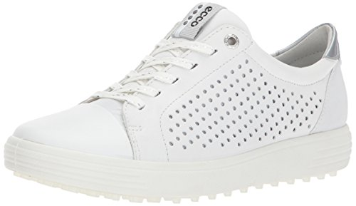 ECCO Women's Casual Hybrid Perforated Golf-Shoe, White, 6 M US