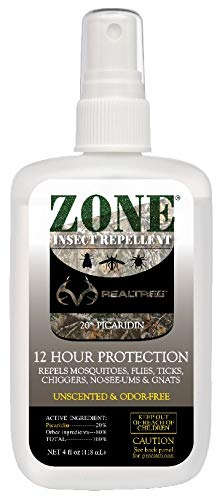 Zone Realtree Picaridin Odorless Insect Repellent Spray | Insect, Flea, Tick, Mosquito Repellent | DEET-Free Bug Spray Repeller (4 oz Spray Bottle)