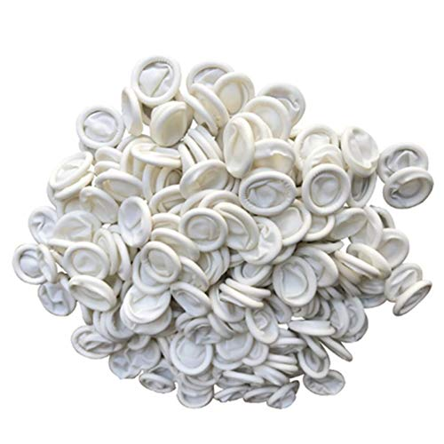 ANSLYQA Finger Cots Latex (Large,800 Pcs) Disposable Finger Covers Anti Static Rubber Fingertips Protective for Electronic Repair, Nail Art, Jewelry Cleaning, Crafting Industrial Apply