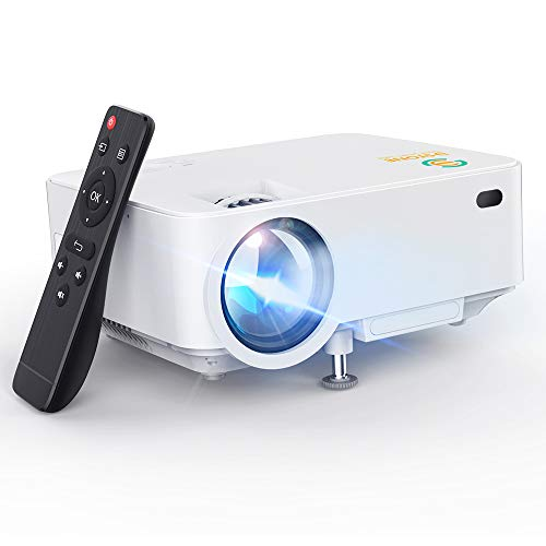 Mini Projector, 3Stone Upgraded Portable LCD Video Projector with 1080P Supported and Built-in Speakers, Multimedia Home Theater Small Projector Compatible with HDMI, USB, AV, DVD, VGA, Laptop