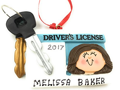 Personalized New Driver License Female Christmas Ornament 2020