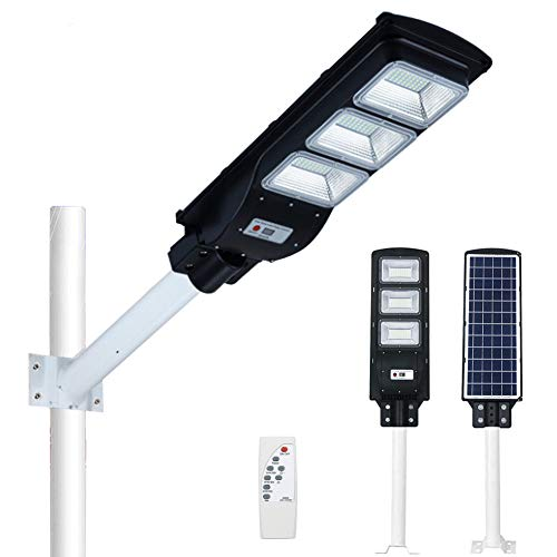 SZYOUMY /Solar Street Light/ 180LED Chips/ Lighting Area 120 Square Meters /15000MA Battery /Human Body Sensor/ for Garden Sports Court etc Waterproof IP66(90W )