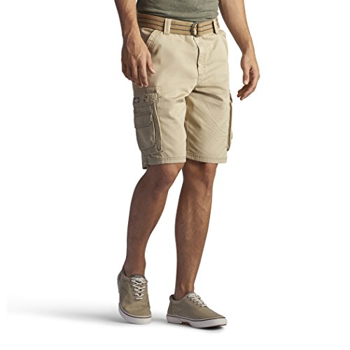 Lee Men's New Belted Wyoming Cargo Short, Buff, 42