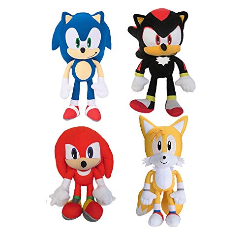 Sonic The Hedgehog Shadow Tails Knuckles 8' Plush Toy Kids Boys Girls (Set of 4)