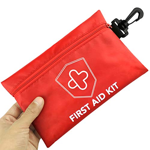 Mini First Aid Kit, 100 Pieces Compact Waterproof Small Medical Emergency Survival Kit, Perfect for Car, Travel, Home, Vehicle, Camping, Workplace & Outdoor