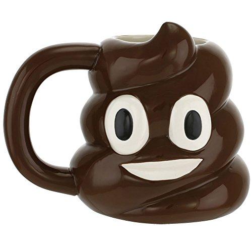 Smiley Poop Emoji Emoticon Ceramic Mug Cup, 20 oz