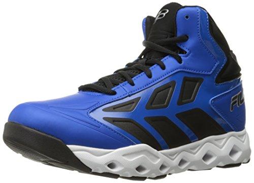 Fila Men's Torranado Basketball Shoe, Electric Blue/Black/White, 10.5 M US