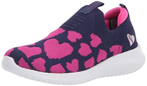 Skechers girls Skechers Stretch Fit, Skechers Slip On, Skechers Sport, Skechers Machine Was Sneaker, Navy/Neon Pink, 1 Little Kid US