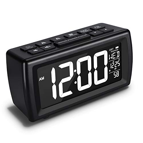 AZUTTA Digital Alarm Clock Radio- 7 Display Colors Adjustable, 5 Brightness Dimmer, FM Radio Sleep Timer, Dual Alarms with Snooze and Weekend Mode, 12/24Hr, USB Charging Port for Home Bedside Bedroom
