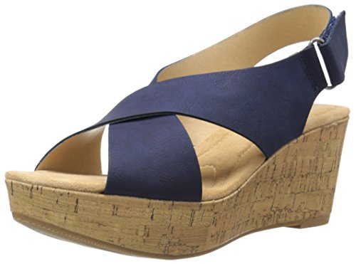 Cl By Chinese Laundry Women's Dream Girl Wedge Pump Sandal, Navy Nubuck, 8 M US