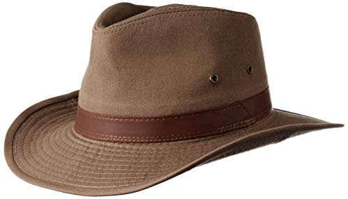 Dorfman Pacific Men's Twill Outback Hat,Bark,Large