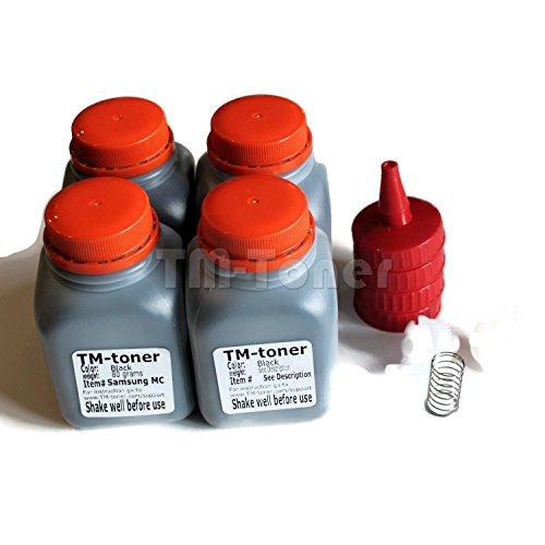 TM-toner 4x Toner Refill kit + gear for Brother HL-L2340DW, HL-L2320D, HL-L2360DW, HL-L2380DW, HL-L2300D MFC-L2720DW, MFC-L2740DW, MFC-L2700DW DCP-L2540DW, DCP-L2520DW TN-630, TN-660 printer