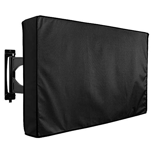 Waterproof Outdoor TV Cover 46 to 48 inches with Bottom Cover, Heavy Duty, Thick Fabric, Weatherproof Outdoor TV Enclosure for Outside TV