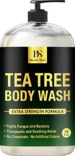 Tea Tree Oil Body Wash - Antibacterial Soap for Acne, Body Odor, Foot & Toenails - Shower Soap for Bacteria, Athletes Foot, Eczema, Ringworm & Jock Itch Treatment In Men & Women 16 oz