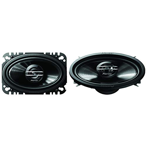 PIONEER Ts-G4620s G-Series 4' X 6' 200-Watt 2-Way Coaxial Speakers 8.30in. x 6.90in. x 2.60in, Black, TSG4620S