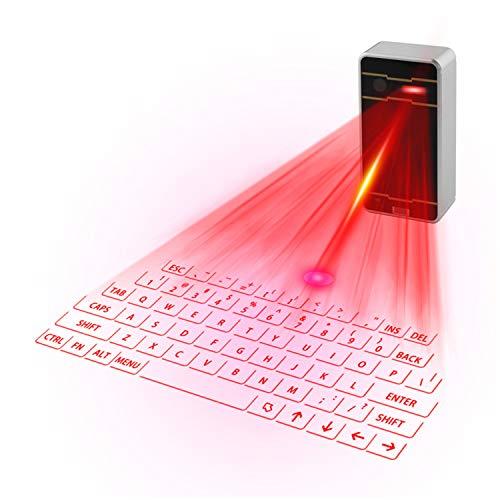Virtual Keyboard, Mini Wireless Projection Bluetooth Virtual Keyboard for Desktop Laptop Tablet Smartphone