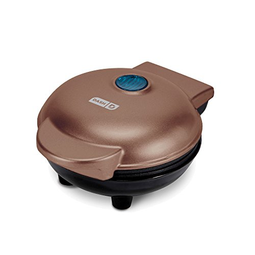 Dash DMW Machine for Individual, Paninis, Hash Browns, other Mini waffle maker, 4 inch, Copper
