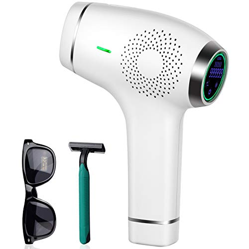 PERMANENT Laser Hair Removal For Women& Men 999,999 Flashes at-Home Hair Remover Treatment for WHOLE Body, Lip, Bikini, Legs Painless Facial Hair Removal Device