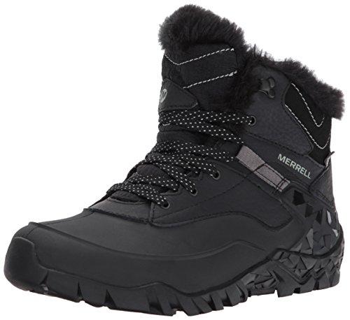 Merrell Women's Aurora 6 Ice + Waterproof Winter Boot, Black, 9.5 M US